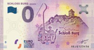 Der inzwischen neunte 0-Euro-Schein ist ab sofort zum Direktkauf im Infocenter von Schloss Burg oder auf Bestellung im Internet erhältlich. (Foto: © Schlossbauverein)
