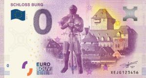 Gehen weg wie geschnitten Brot: Die 0-Euro-Scheine als Souvenir mit dem Motiv von Schloss Burg. (Foto: © Schloss Burg)