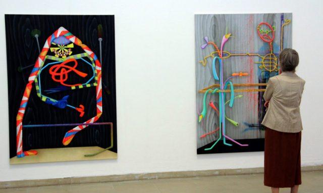 Am Freitagabend wurde im Gräfrather Kunstmuseum die 70. Bergische Kunstausstellung eröffnet. Zu sehen gibt es Werke von 15 Künstlern aus der Region. (Foto: B. Glumm)