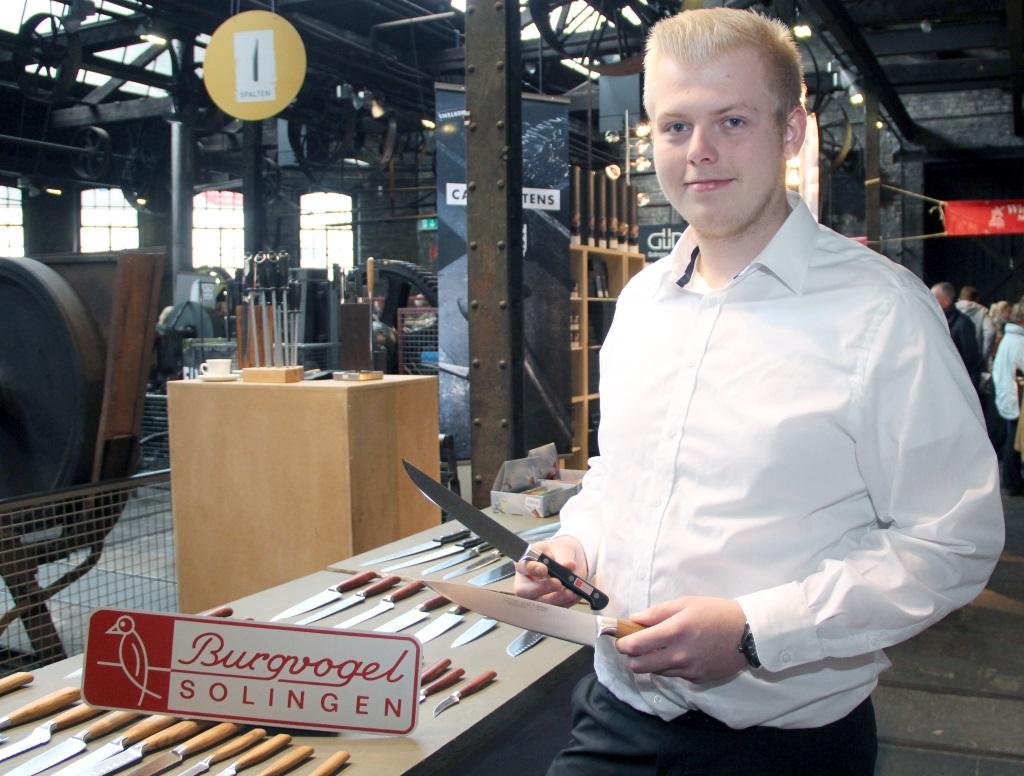Ihre hochwertigen Serien präsentierte die Firma Burgvogel von der Burger Landstraße. Philipp Bahns freute sich über viele Besucher aus der ganzen Region. (Foto: B. Glumm)