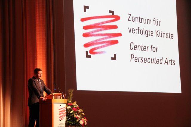 Das Zentrum für verfolgte Künste wurde vor fünf Jahren gegründet. Anlässlich des Festaktes am 8. Dezember 2015 im Theater und Konzerthaus sprach Oberbürgermeister Tim Kurzbach. (Archivfoto: © Bastian Glumm)