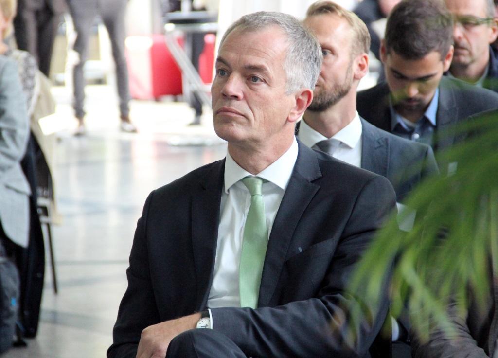 Joahnnes Remmel ist Minister für Klimaschutz, Umwelt, Landwirtschaft, Natur- und Verbraucherschutz des Landes Nordrhein-Westfalen. Er war am Samstag zu Gast in Solingen. (Foto: B. Glumm)