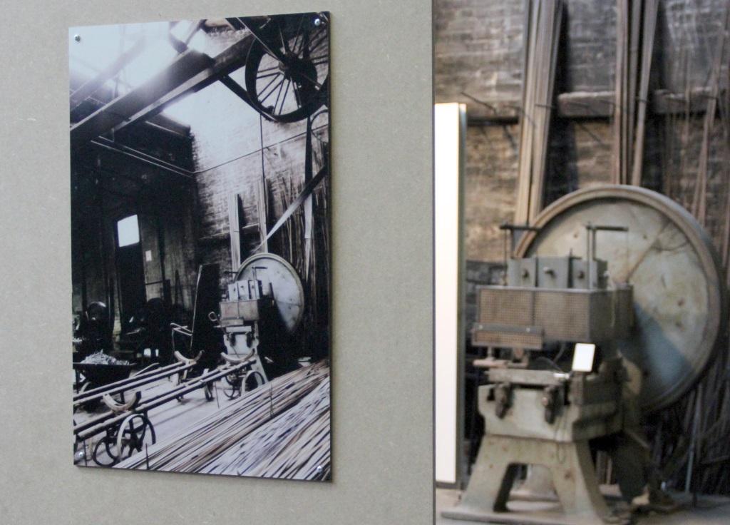 In der Dauerausstellung zeigen diverse Fotos, wie es damals aussah, als man mit dem Umbau zum Museum begann. Die Unterschiede sind meist gar nicht so groß. Zumindest optisch. (Foto: B. Glumm)