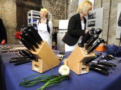 Die Solinger Schneidwaren-Firmen präsentieren innovative und ausgewählte Produkte auf dem MesserGabelScherenMarkt am 5. und 6. November in der Gesenkschmiede in Merscheid. (Foto: © LVR-Industriemuseum)