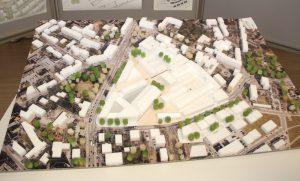 Gewerbe, Wohnen, Kultur und Gastronomie sollte der Entwurf für das neue Omega-Quartier enthalten. Die Jury votierte einstimmig für den Vorschlag des Büros ASTOC aus Köln. (Foto: B. Glumm)