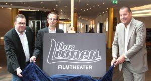 """Das ehemalige Cinemaxx-Kino heisst seit August """"Das Lumen Filmtheater"""". Die Betreiber (v.li.) Lutz Nennmann, Frank Lichtenberg und Meinolf Thies präsentieren ab kommenden Monat eine große Reihe mit Tier- und Dokumentarfilmen. (Archivfoto: B. Glumm)"""
