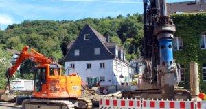 Die Bauarbeiten an der Eschbachstraße in Unterburg laufen auf Hochtouren. (Archivfoto: © Bastian Glumm)