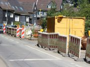 Die arbeitstägliche Vollsperrung der Eschbachstraße muss voraussichtlich bis Mitte Juni 2018 verlängert werden. (Archivfoto: © Bastian Glumm)