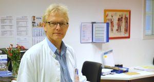 Dr. Volker Soditt ist Chefarzt der Klinik für Kinder- und Jugendmedizin am Klinikum. Er freut sich über die Unterstützung der Kollegen aus Hilden und Haan. (Foto: B. Glumm)