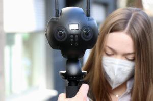Über sechs Linsen verfügt die Insta Pro2 Kamera und kann so den perfekten Rundumblick ermöglichen. (Foto: © Bastian Glumm)