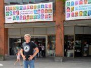 Initiator Timm Kronenberg vom city-art-project hat mit seiner Banner-Idee einen absoluten Volltreffer gelandet. Die Beteiligung ist weit besser als erhofft. (Foto: © Martina Hörle)