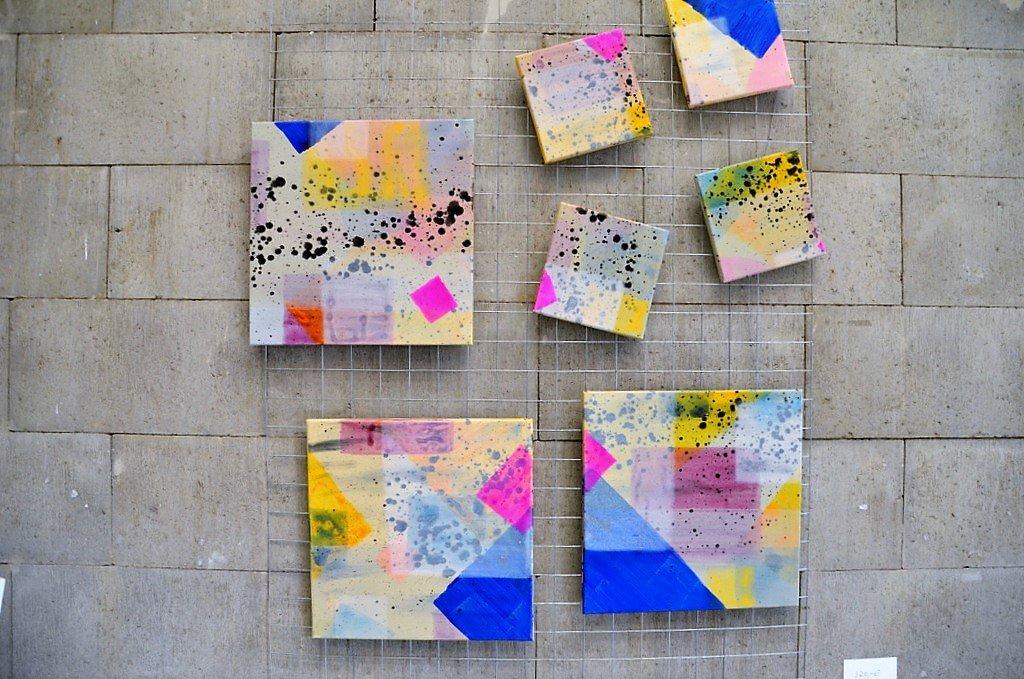 Carla Froitzheim findet in der Form des Quadrates eine besondere Faszination. (Foto: © Martina Hörle)