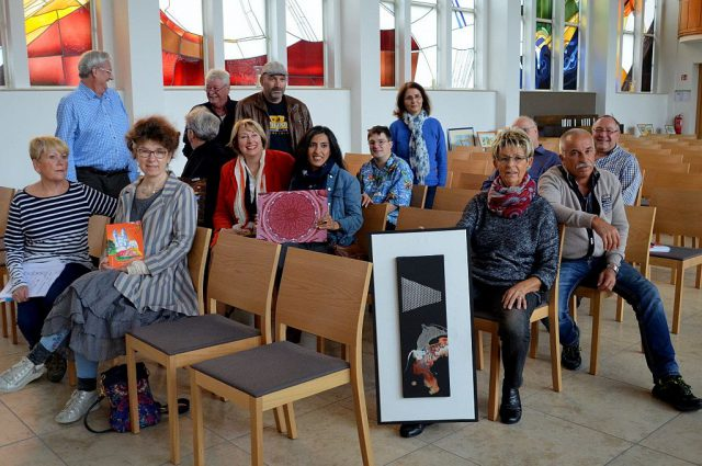 Künstler und Akteure stellten heute in der Stadtkirche an Fronhof ein buntes Rahmenprogramm vor. Vom 15. – 22. Oktober findet in der Kirche die erste Solinger Kulturwoche statt. (Foto: © Martina Hörle)