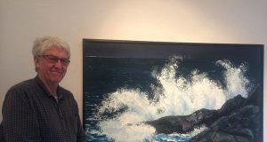 Der norwegische Maler Lars Tveit bevorzugt Motive der Küstenkultur. Am liebsten malt er in Öl auf Acryl. Damit erzeugt er ganz besondere Strukturen. (Foto: © Veranstalter)