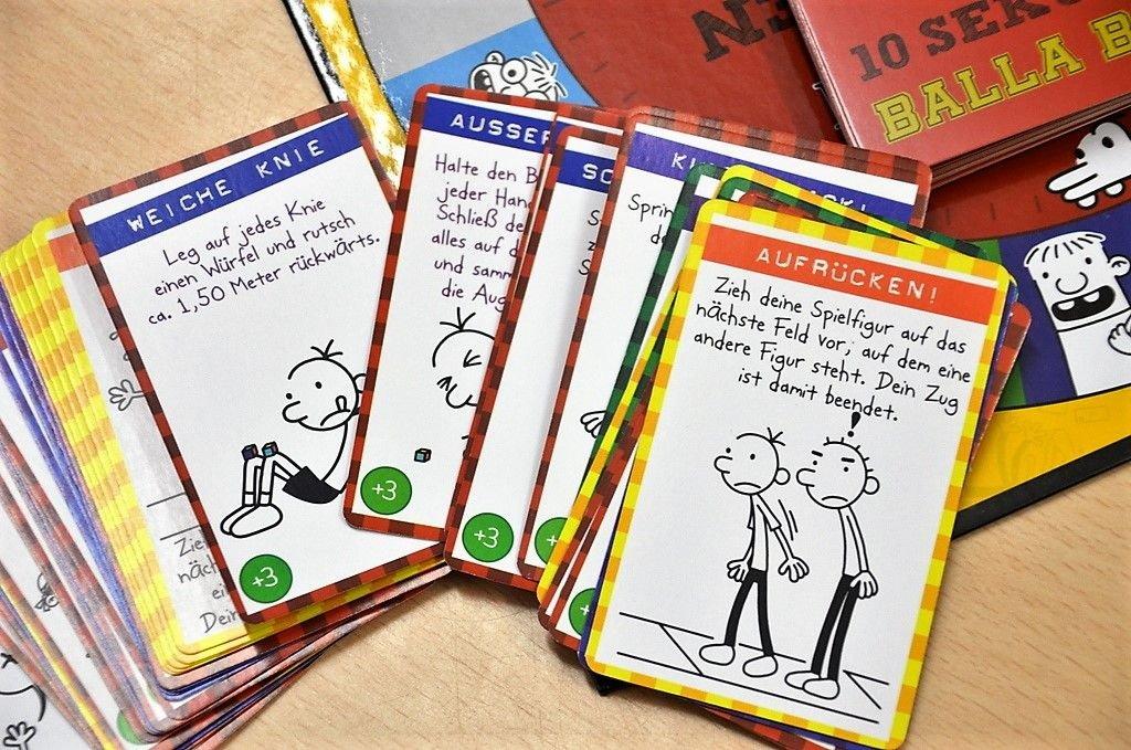 """Das Greg-Brettspiel """"Balla Balla"""" stellte die Kinder vor eigenartige Aufgaben und sorgte für viele Lacher. (Foto: © Martina Hörle)"""