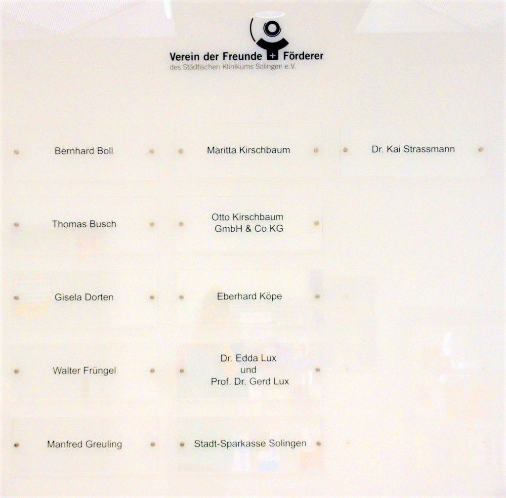 Die Sponsorentafel enthält bis jetzt elf Namen von Sponsoren. Noch sind Plätze frei. (Foto: © Martina Hörle)