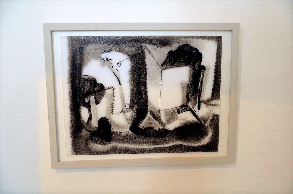 """Diese Lackmalerei von Bertold Mohr trägt den Titel """"Genf"""". Der Künstler hat das Werk einem Buch entliehen und neu interpretiert. (Foto: © Martina Hörle)"""