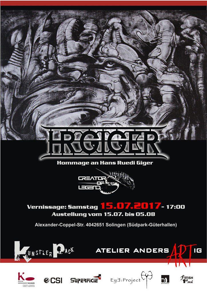 """Das Plakat der Ausstellung zeigt Gigers Werk """"Biomechanical Landscape: Mordor"""" (Foto: © Veranstalter)"""