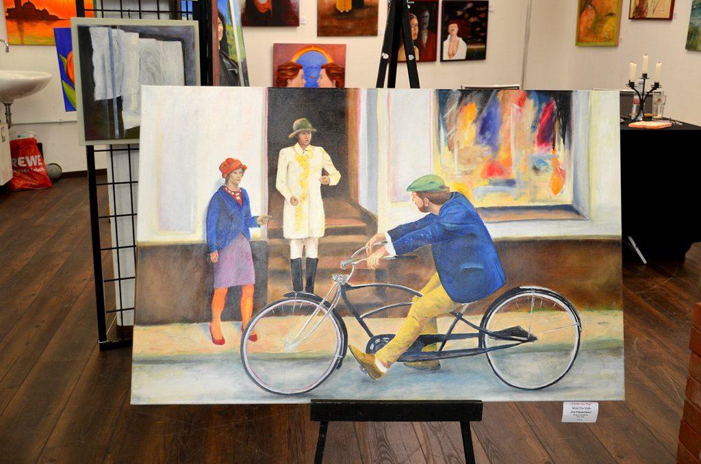 Dieses Werk von Wal de Voh ist einer realistischen Begebenheit nachempfunden. Auch auf dem Bild scheinen die Personen zu leben. (Foto: © Martina Hörle)