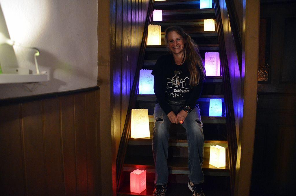 Cornelia Kreitzberg hatte schon beim ersten Lichterzauber die Idee der Lichttüten entwickelt. Sie freut sich, dass die Tüten so heiß begehrt sind. (Foto: © Martina Hörle)