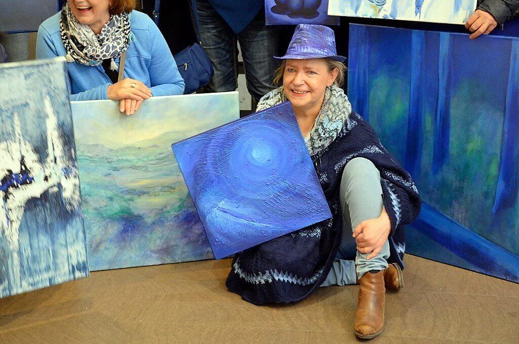 """Die Kölner Künstlerin Imke Florin hat mit ihrer Idee eine Lawine in Gang gesetzt. """"Foto: © Martina Hörle)"""