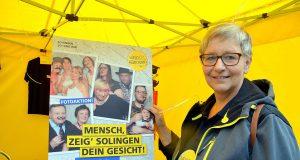 Sabine Rische von der Pressestelle Solingen ist gemeinsam mit ihren Mitstreitern auf der Suche nach Solinger Gesichtern. Die sollen Verwendung in künftigen Marketingaktivitäten finden. (Foto: © Martina Hörle)
