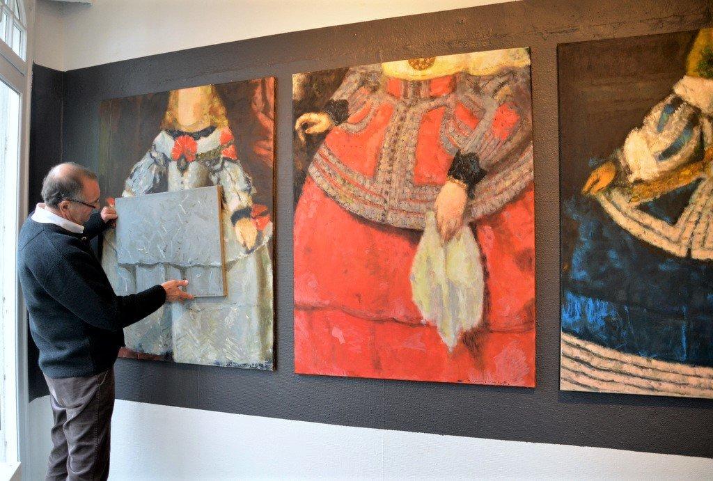 Der Künstler hat Details aus den Bildern gezogen und daraus neue Darstellungen kreiert. (Foto: © Martina Hörle)