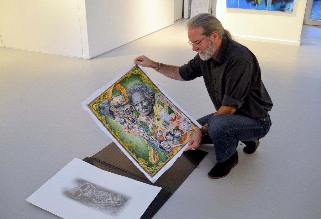"""Humor ist ein zentrales Element in Ingo Schleutermanns Werken. In dem Bild """"Keith"""" hat sich Einsteins Zunge versteckt. (Foto: © Martina Hörle)"""