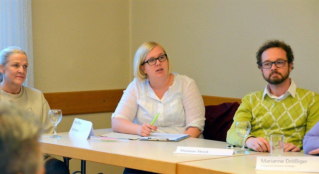Nina Efker (Mitte) vom Stadtdienst Soziales begleitet das Projekt. (Foto: © Martina Hörle)