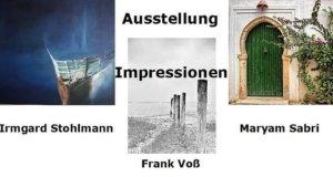 """Malerin Irmgard Stohlmann zeigt gemeinsam mit den Fotografen Maryam Sabri und Frank Voß Werke zum Thema """"Impressionen"""". (Foto: © Veranstalter)"""
