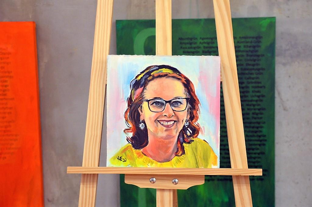 Fia Biba war die erste Künstlerin, die von Kristina Eckel porträtiert wurde. (Foto: © Martina Hörle)