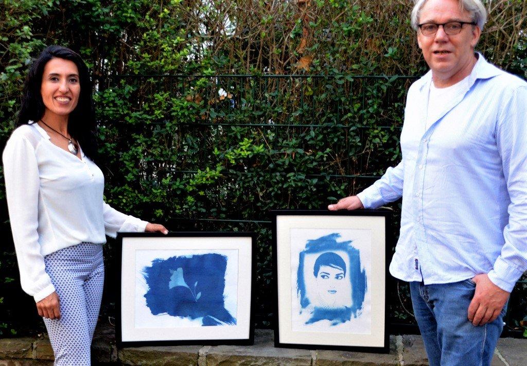 Die Fotografen Maryam Sabri und Frank Voß zeigen bei der Lichternacht das Ergebnis ihrer Experimente. Sie haben sich mit den Anfängen der Fotografie befasst und eine Reihe beeindruckender Exponate geschaffen. (Foto: © Martina Hörle)