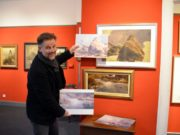 Im Kunstmuseum Dortmund hatte Dirk Balke eine erstaunliche Entdeckung gemacht. Zwei Ansichten des Malers de Leuw waren Ausschnitte aus einem großen Gesamtwerk von Andreas Achenbach. (Foto: © Martina Hörle)