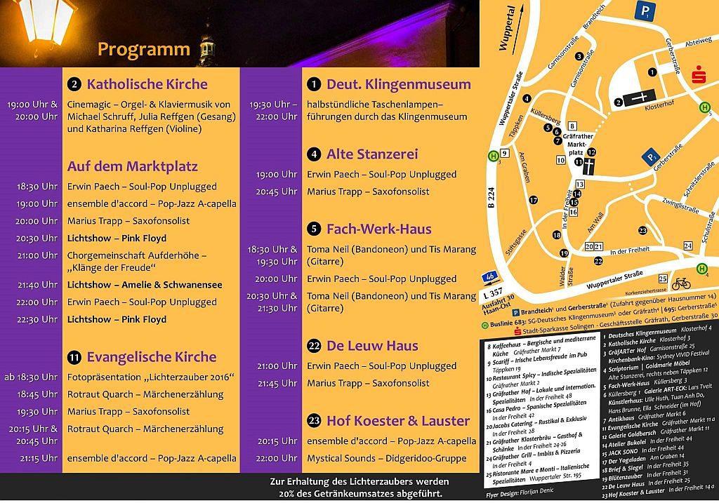 Alle Informationen zum Programm des Gräfrather Lichterzaubers (Foto: © Veranstalter)