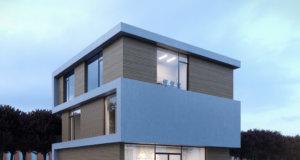 """Die Firma Jumo Projektbau GmbH, die aktuell 45 Mitarbeiter beschäftigt, lässt im Südpark ein neues Gebäude mit knapp 700 Quadratmetern Bürofläche auf einer Grundstücksfläche von rund 950 Quadratmetern errichten. (Bild: © """"PlanBar Architektur"""" aus Köln)"""