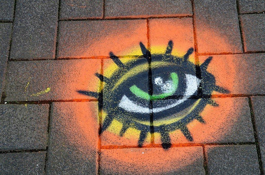 Das Auge war ein beliebter Anreiz für die Besucher. Von diesem Punkt sieht man die Perspektive am besten. (Foto: © Martina Hörle)