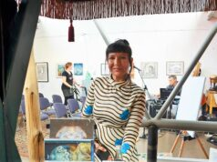 Ein Jahr lang hatte die Wuppertaler Künstlerin und Galeristin Yvette Endrijautzki auf diese Veranstaltung hingearbeitet. Am letzten Samstag fand die Eröffnung der großen Sonderschau zu Ehren der Wuppertaler Künstlerin Sulamith Wülfing statt. (Foto: © Martina Hörle)
