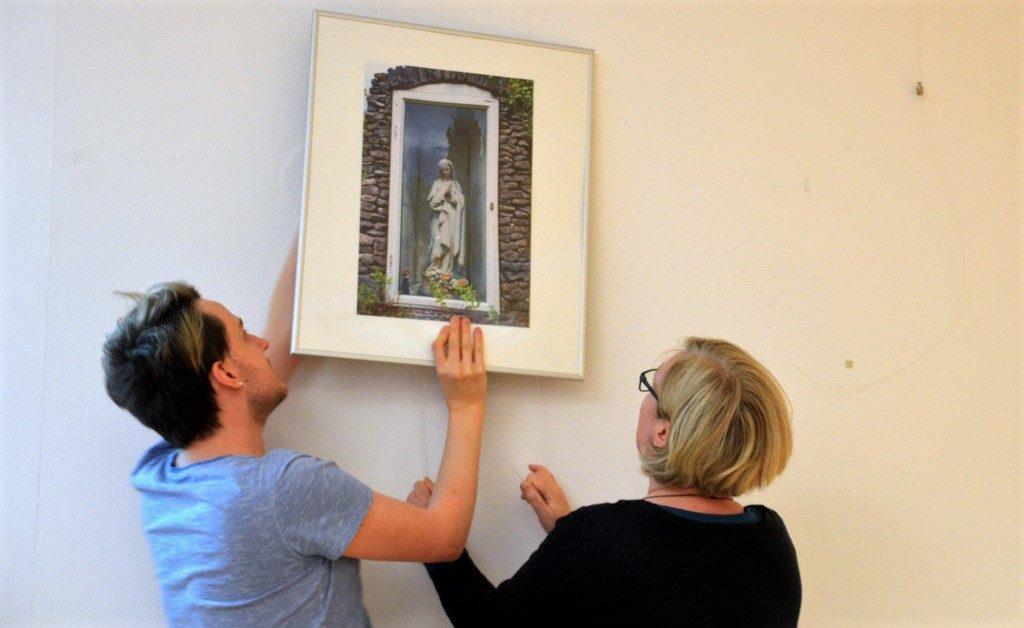 Heute wurden die letzten Vorbereitungen für die Eröffnung der Ausstellung getroffen. (Foto: © Martina Hörle)