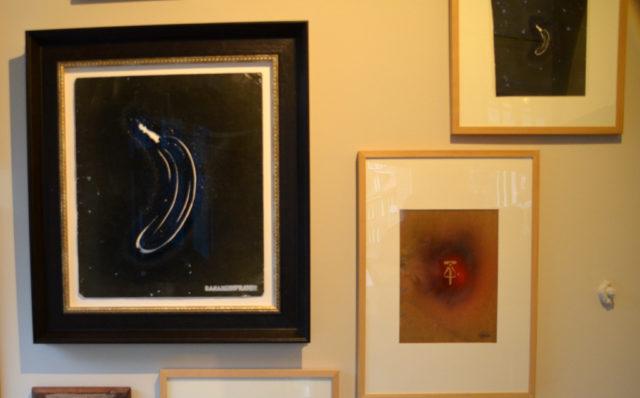 Zum zehnjährigen Jubiläum der Galerie ART-ECK zeigt Dirk Balke Stencils des Bananenkünstlers Thomas Baumgärtel. (Foto: © Martina Hörle)