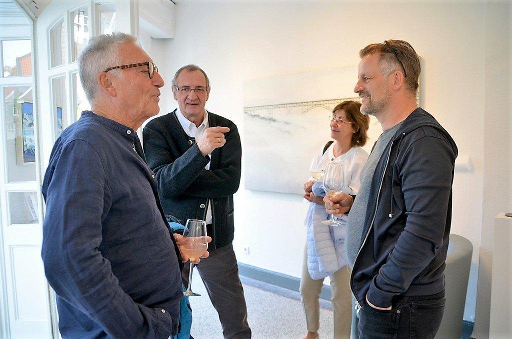 Neben fachlichen Gesprächen und dem Austausch von Tipps wurden nette und amüsante Anekdoten zum Besten gegeben. (Foto: © Martina Hörle)