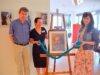 (v. li. Dr. Heinz-Werner Würzler, Silke Koppetsch, Anna Engel) Freuen sich über die Kooperation und die gelungene Ausstellung (Foto: © Martina Hörle)