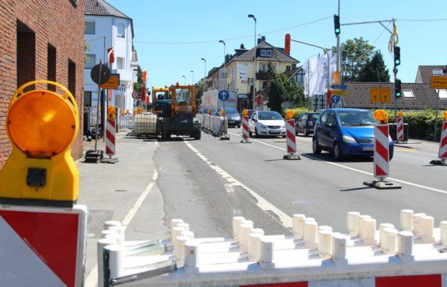 Die Bauarbeiten auf und an der Hildener Straße schreiten voran. (Archivfoto: © Bastian Glumm)