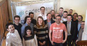 """Elf Startup-Teams kämpften jetzt im Solinger Coworking-Space """"coworkit"""" um die Finalplätze für den Berg-Pitch am kommenden Donnerstag bei der codecentric AG. (Foto: © Gründer- und Technologiezentrum Solingen)"""