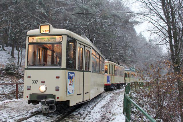 Durch das idyllische Kaltenbachtal bis in das leicht verschneite Cronenberg windet sich die rund drei Kilometer lange Strecke. (Foto: © Das SolingenMagazin)