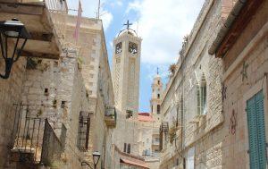 Im Stadtkern von Bethlehem finden sich zahlreiche kirchen verschiedener Konfessionen. Rund 30 Prozent der etwa 30.000 Einwohner der Stadt sind noch christlichen Glaubens. (Archivfoto: B. Glumm)