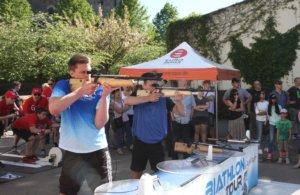 Eingeladen vom Stadtmarketing wird die Biathlon-Tour am 6. Juli den beliebtesten TV-Wintersport in Deutschland auf dem Fronhof hautnah präsentieren. (Foto: © www.biathlon-tour.de)