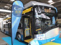 """Am Donnerstag wurde Solingens erster """"BOB"""" der Öffentlichkeit vorgeführt. Der Batterie-Oberleitungs-Bus ist freilich schon seit Januar in der Klingenstadt. (Foto: © Bastian Glumm)"""