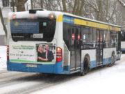 Trotz Schnee und Eis fahren in Solingen die Busse, es kommt jedoch auf allen Linien zu Verspätungen. (Foto: © Bastian Glumm)
