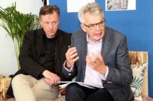 """Dr. Holger Pump-Uhlmann (li.) vom gleichnamigen Beraterbüro und Rolf Junker von """"Junker + Kruse"""" werden die Innenstadt genauestens unter die Lupe nehmen und wollen bis Ende des Jahres einen Entwurf vorlegen. (Foto: © Bastian Glumm)"""