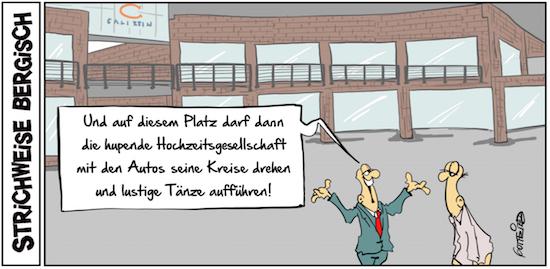 Cartoon über die Clemensgalerien Solingen
